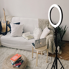 camera ring light with stand