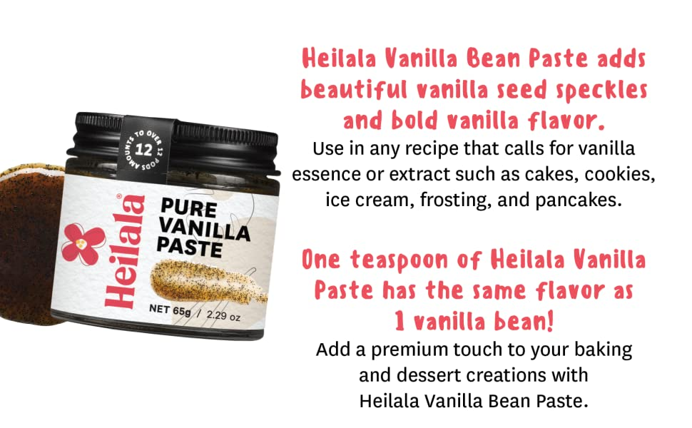 Heilala vanilla bean paste for baking Madagascar tongan bourbon extract pods hand-picked with seeds