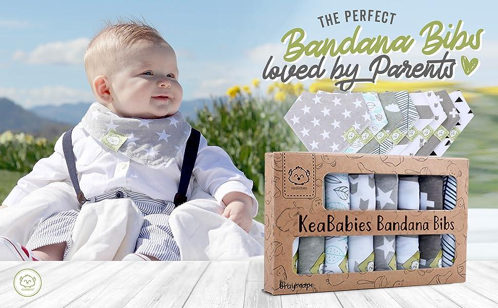 Evolutionary Bandana Bib Long 0-36 Months Baby Children 100/% Cottons Triple Adjustments