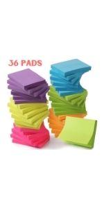 Mr. Pen- Sticky Notes, Sticky Notes 1.5x2 inch, 36 Pads, Small Sticky Note