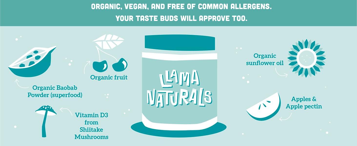 Plant based organic vitamins