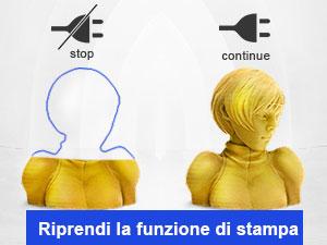 Cintura per stampante 3d_Stampante 3D FDM_Rilevamento del filamento e ripresa della stampa