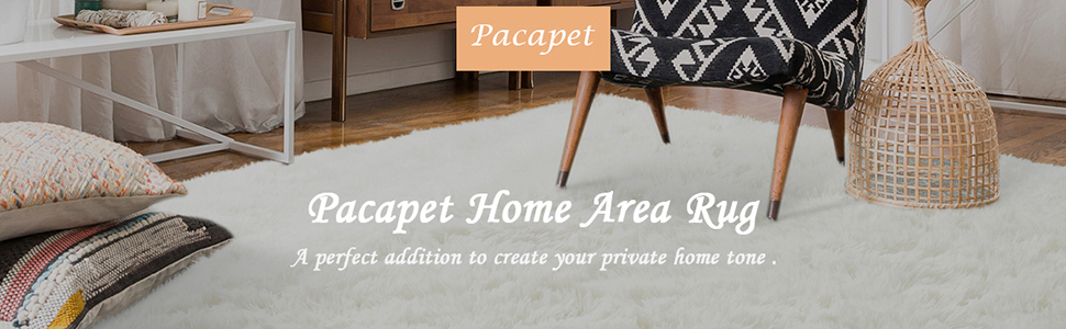 cream fluffy home rug