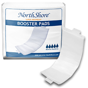 Medium NorthShore Booster Pads with Adhesive 4//30s Case//120