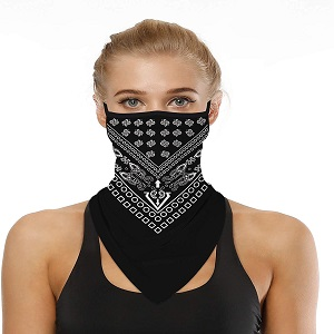 IS152101 Motorcycle Face Scarf for Women Men Face Scarf 19.6x9.8inch
