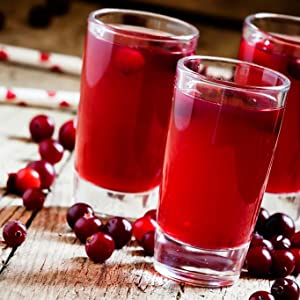 healthy juice, prevents constipation, natural and pure cranberry