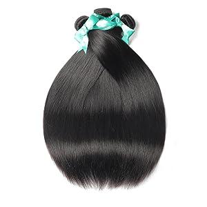 Brazilian Straight Human Hair Bundles with Frontal