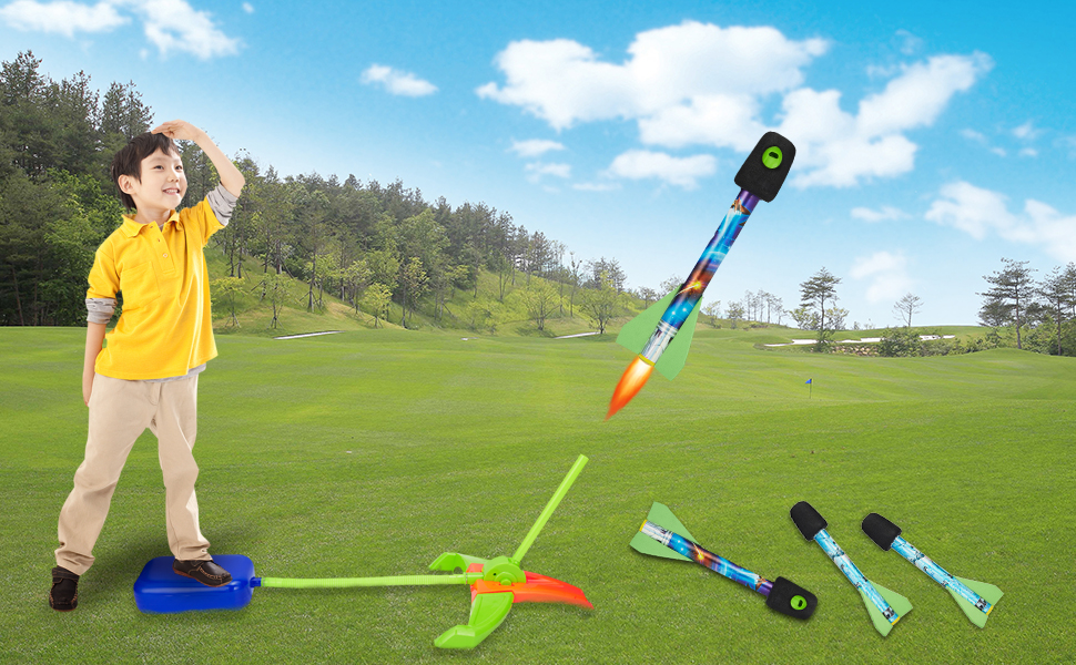 rocket stomper for kids toy rocket launcher girls toys age 3-4 years outside toys for kids ages 4-8