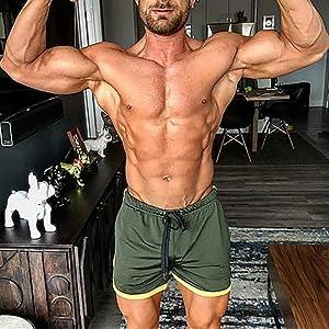 BURFLYM/änner Sport Training Bodybuilding Sommer Shorts Trainings fitness GYM Atmungsaktive Kurze Hosen Shorts Herren