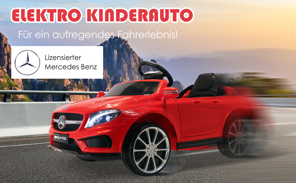 Mercedes Benz AMG Lizenz Kinder Kinderfahrzeug Elektroauto