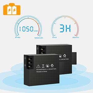 1050mAh Battery*2