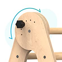 baby indoor gym wooden indoor playset Climb Stairs Crawl Through Space Slipping Slide Waldorf toys