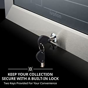 wine cooler with lock