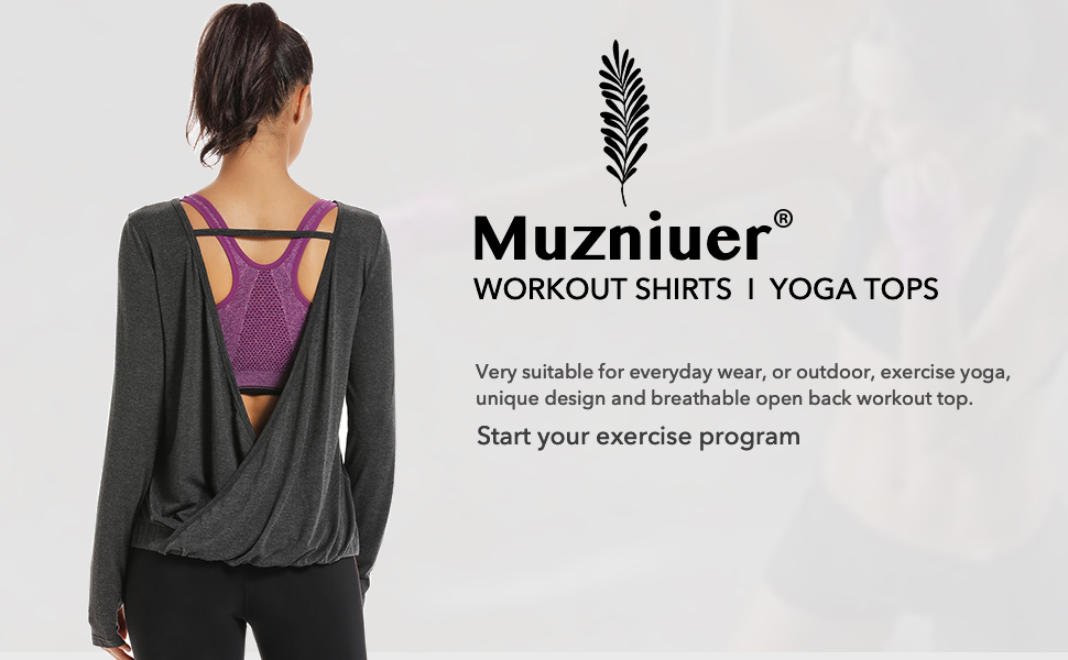 Muzniuer long sleeve workout shirts