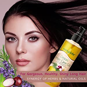 For shiny and healthy hair
