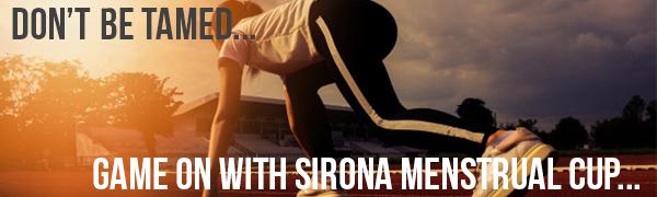Sirona De gran tamaño menstrual Copa de la Mujer | Use durante 12 horas | Reutilizable período de la Copa - suave, flexible, Diseño prueba de fugas, ...