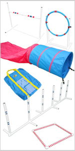 Dog Agility Equipment Agility in a Bag Closed Tunnel Chute Course Set