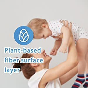 Plant-based firber surface layer