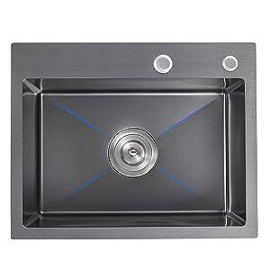 kitchen sink dark grey black