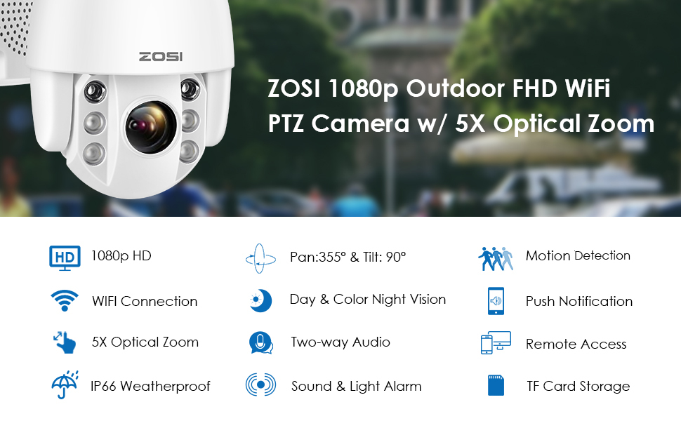 ZOSI 1080p Outdoor FHD WiFi
