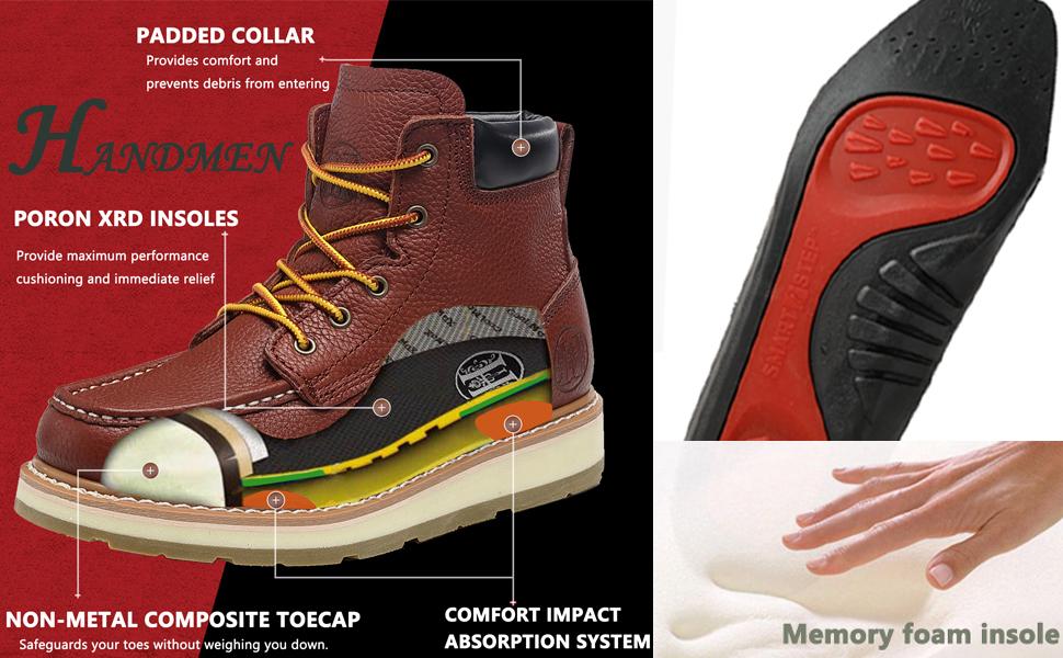 waterproof work boots for men moc toe