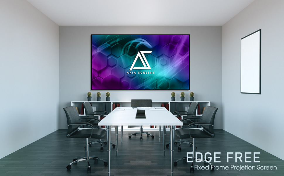 fixed frame screen, projection screen, projector screen, wall hanging screen, hd movie screen