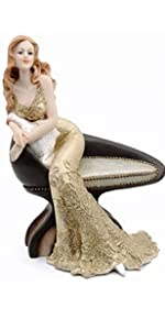 Luxury Lady in Chair Figurine