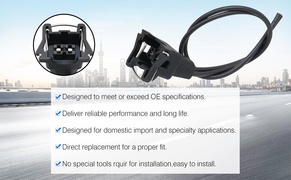 12085491 12129142 218457 218419A 28423 414 88861107 LS1 LT1 Fuel Injector Pigtail Connector Wiring,TEMP sensor For Camaro Firebird Corvette