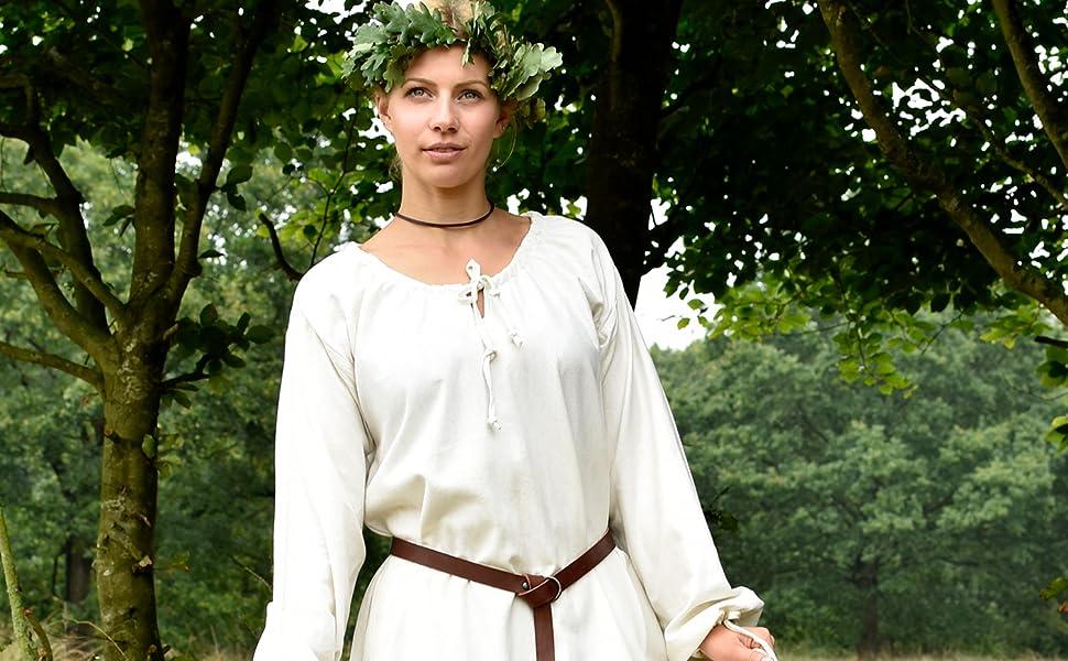 lang frauen maxi piraten vintge piratin bäuerin faschingskostüm medieval kostümparty rollenspiel