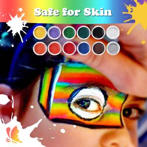 Luckyfine Pinturas Faciales y Glitter Corporales, Kit de ...