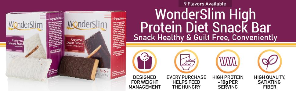 wonderslim high protein diet snack bar