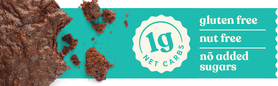 gluten free nut free no added sugars 1g net carb brownies