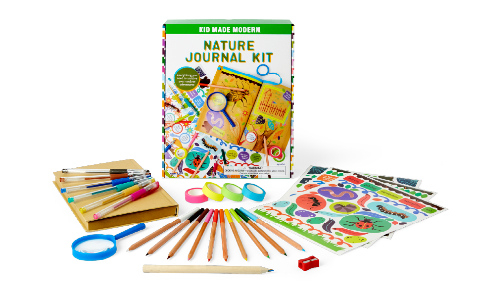 nature journal travel road trip critters bugs bug sight seeing writing arts and crafts kit for kids