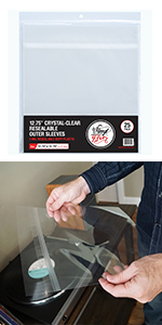 vinyl fever outer BOPP resealable sleeves for vinyl albums and scratch free storage