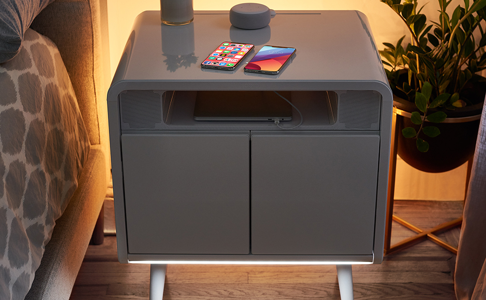 Sobro, side, table, usb, bluetooth, speakers, usb-c, charging, chiller