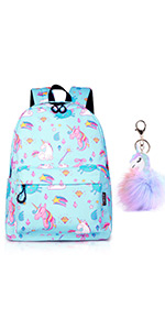 Unicorn Backpack Lightweight Water Resistant Rainbow Toddler Student Backpacks