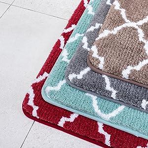 high pile bath rug mat