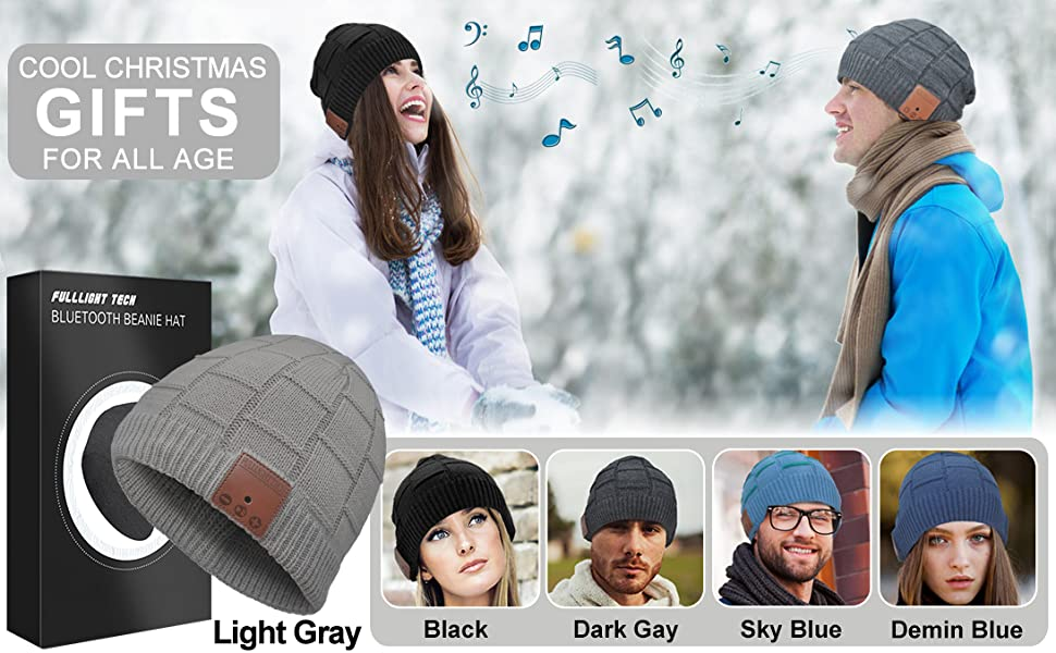 bluetooth beanie hat with headphones gifts for men women