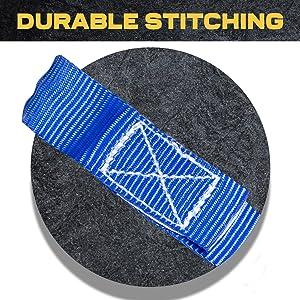 tie down straps, ratchet straps, durable stiching