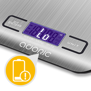 Adoric Food Scale-Low Battery Indication