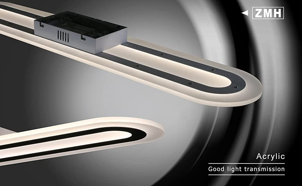ZMH LED luz de techo sala de estar moderno 76W control remoto regulable blanco cálido/blanco neutro/blanco frío lámpara de techo sala de estar ...