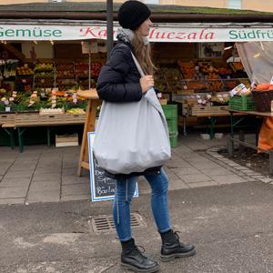 Tasche Einkaufstasche Tote Shopping Bag Leinentasche groß Stella Luzia Marie grau hell nachhaltig