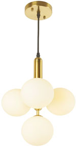 4 Lights Modern Globe Pendant Light Fixture