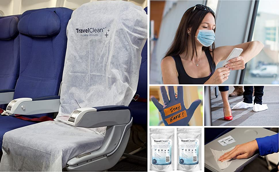 Travel Clean Disposable Airplane Seat Cover for Pregnant Woman College Students Business Travel