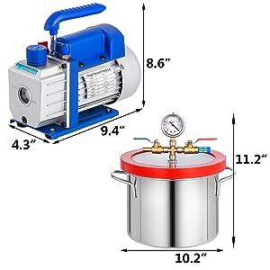 1.5 gallon vacuum degassing chamber