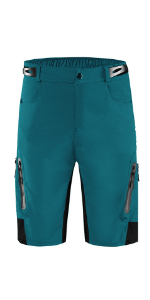 blue padded shorts