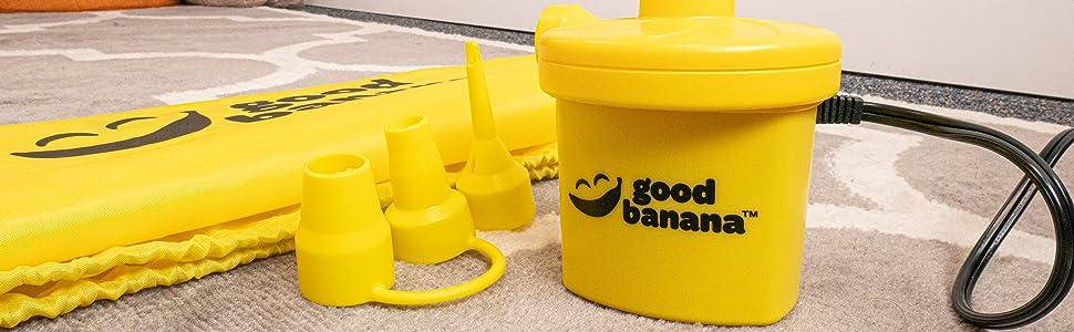 air pump for inflatable mattress bed sleepover good banana inflator