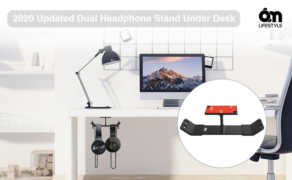 headphone hanger under desk