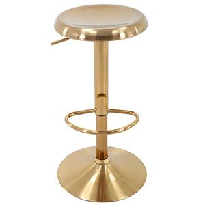 gold yellow round seat barstool