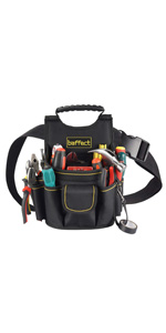 Baffect Canvas Tool Pocket Pouch Belt Small Pocket Tool bag Waist Work pouch for Electricians